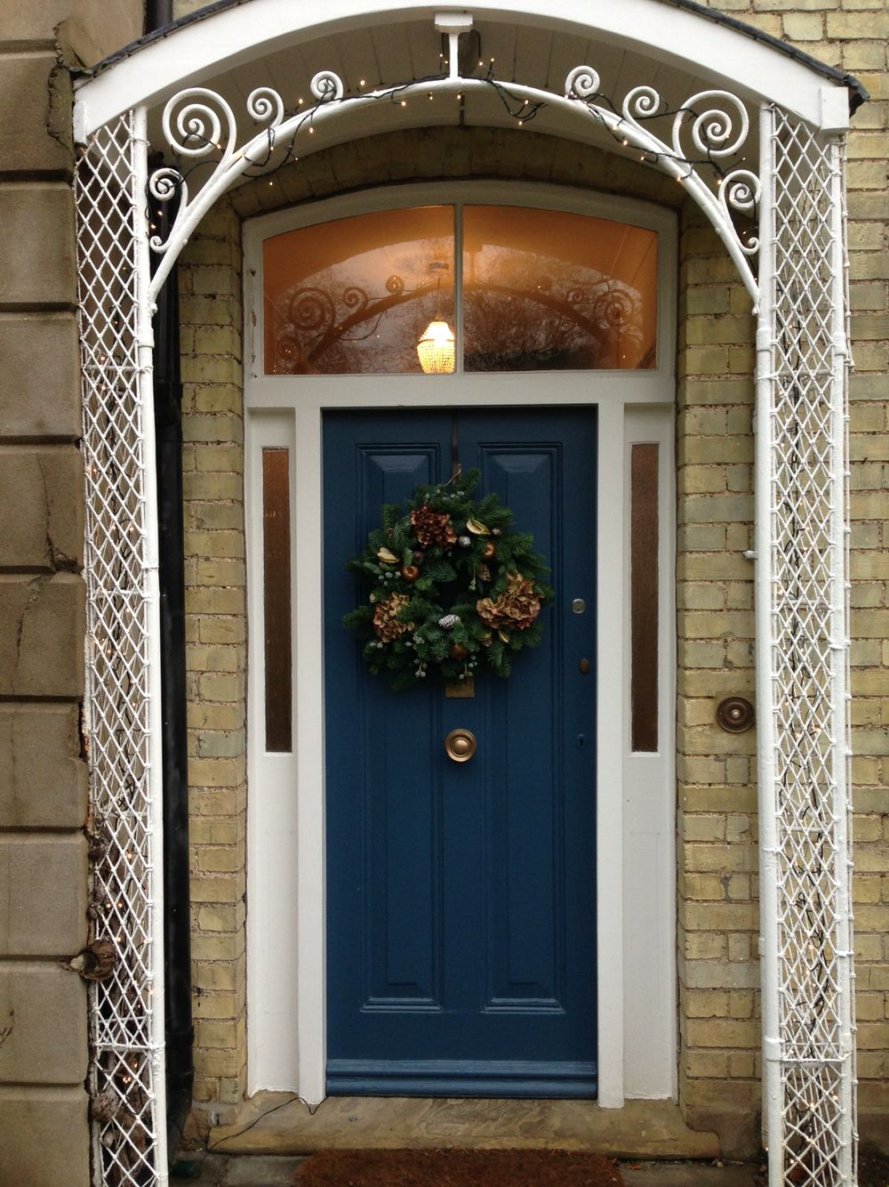 Our Stiffkey Blue front door at Christmas   Painted front doors ...