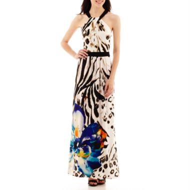 803bca7b1052 Bisou Bisou® Halter-Neck Print Maxi Dress found at  JCPenney ...