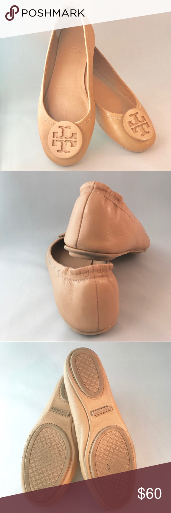 94df568a5 Tory Burch Women s Minnie Travel Ballet Flats 5.0 Tory Burch Women s Minnie  Travel Ballet Flats Color  Goan Sand Size  5.0 Worn 5-10 times.