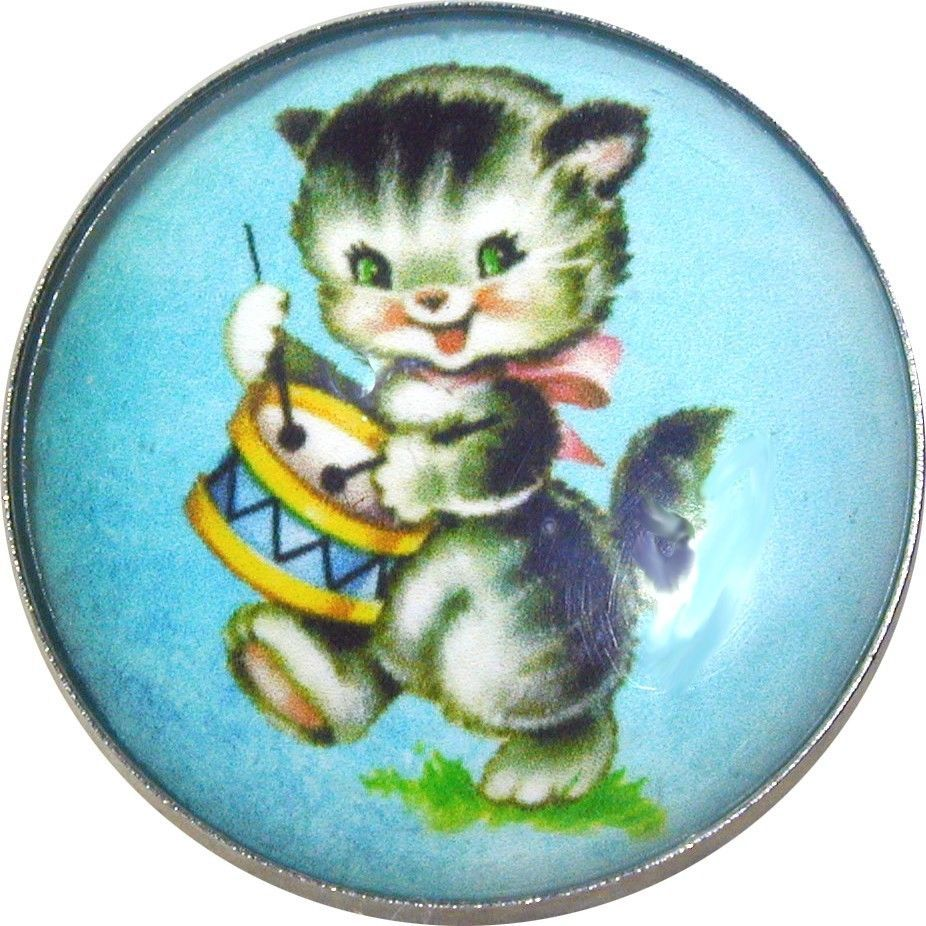 """1/"""" Crystal Dome Button Cute Vintage Deer /& Blue Bird VA 09 FREE US SHIPPING"""
