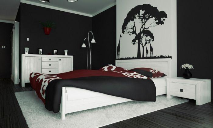 einrichtungsbeispiele wohnideen tepetenidee grafik Schlafzimmer - farbgestaltung schlafzimmer ideen
