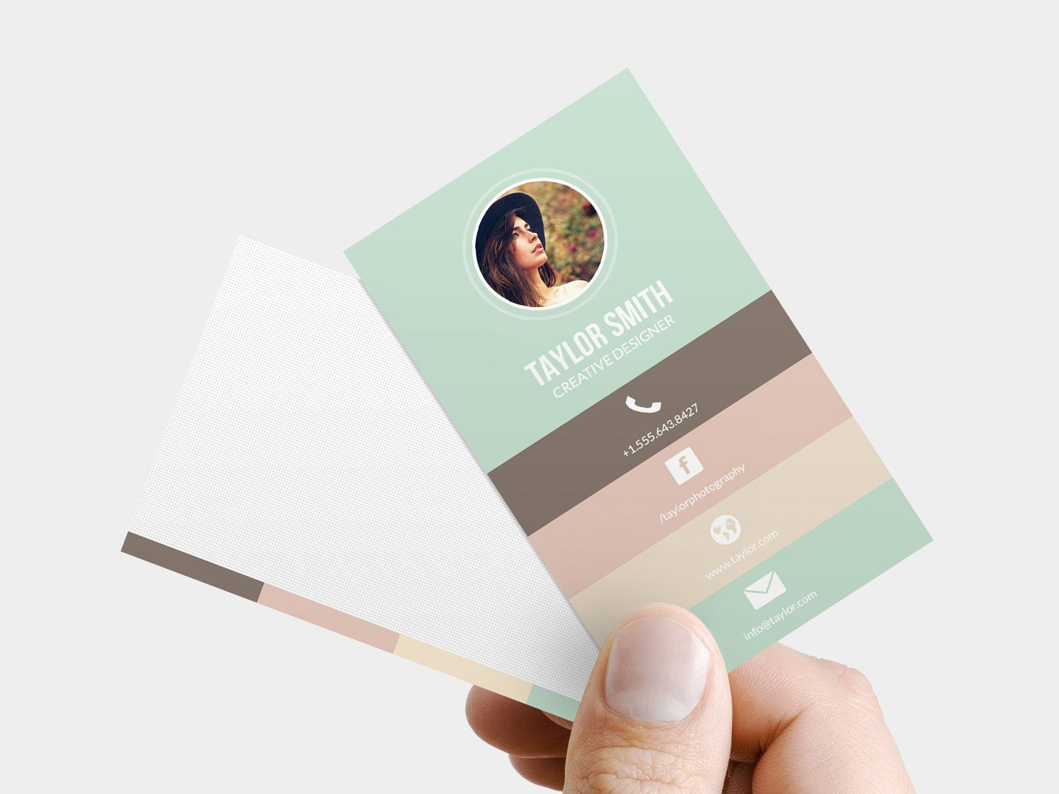 Business Card Template - Printable business card design, business ...