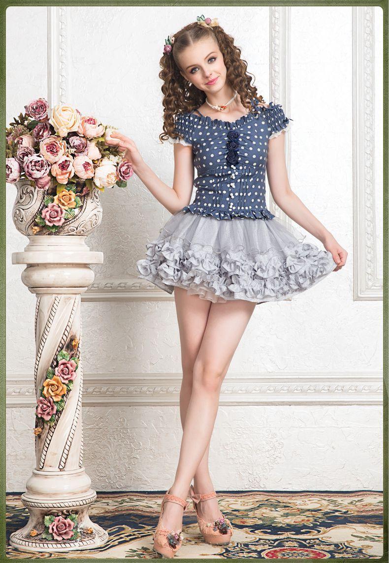 b887ffe0723 Blue Lolita Mini Girls In Mini Skirts