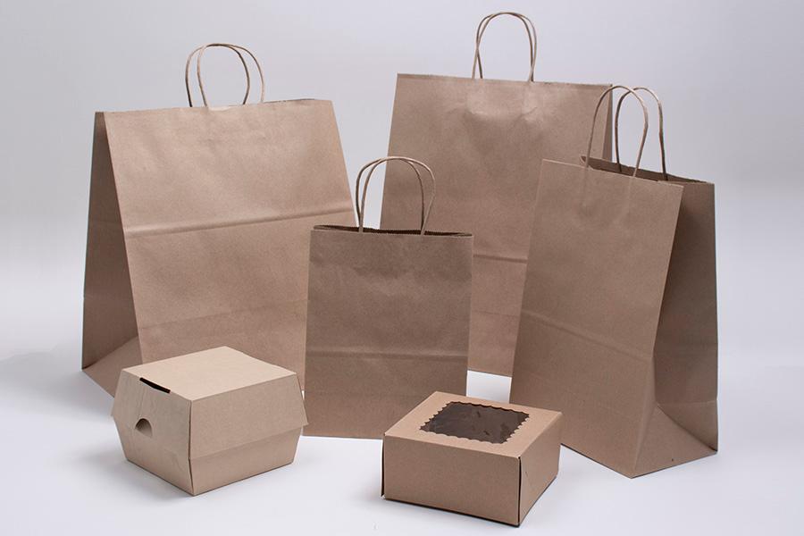 Natural Kraft Paper Bags Packaging Design Inspiration Kraft Paper Paper Bag