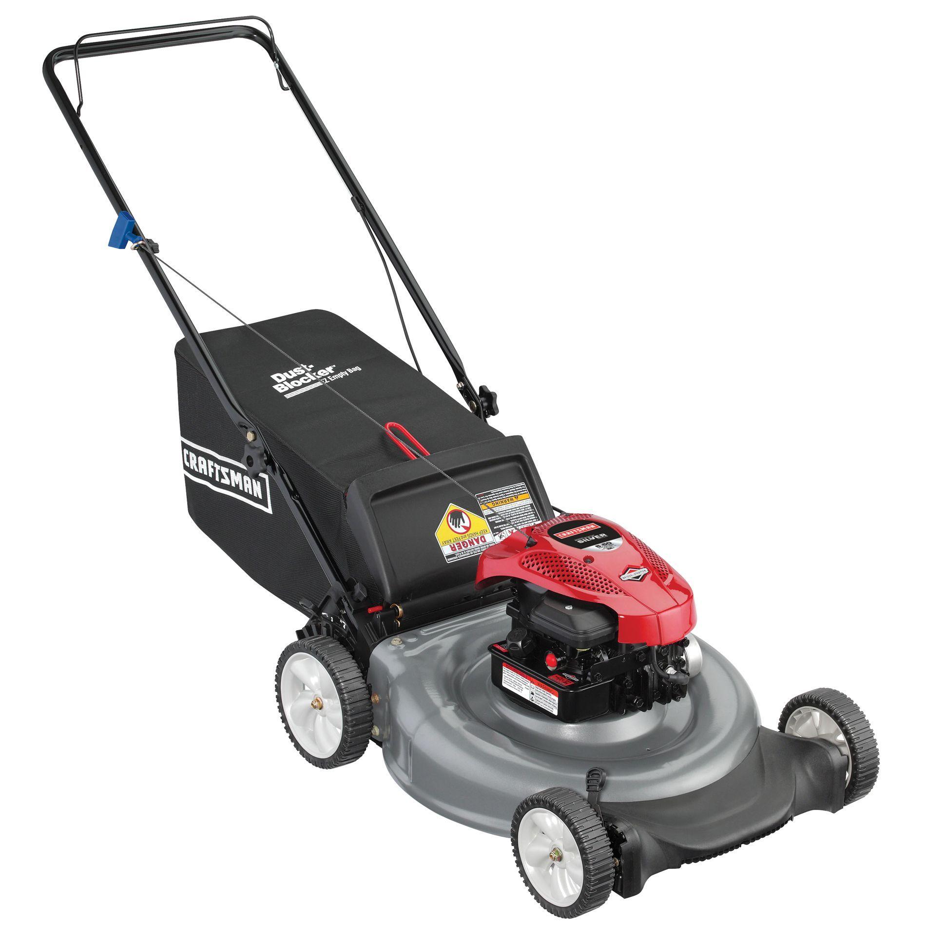 Craftsman 11a A15a099 Lawn Mower 21 158cc Rear Bag Push Lawn With Smooth Start Non Ca Gray Push Mower Briggs Stratton