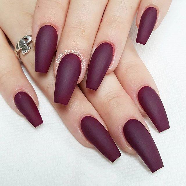 Matte burgundy nails @KortenStEiN | Matte Nails | Pinterest | Matte ...