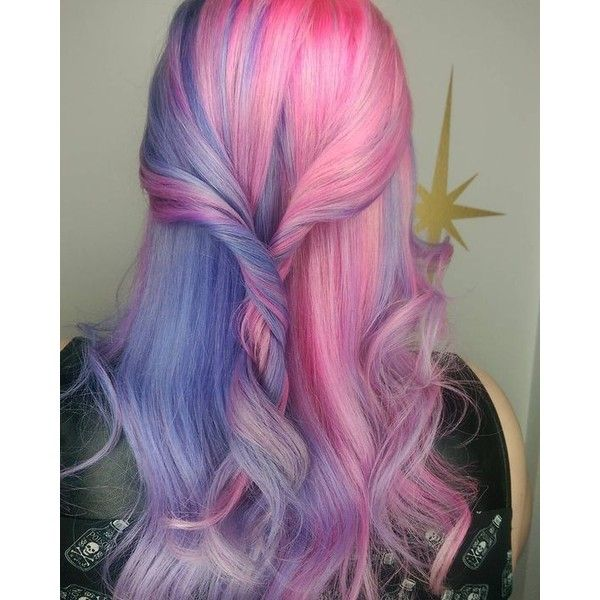 Split Personality Hair In Pastel Pink And Purple Hair Colors Ideas