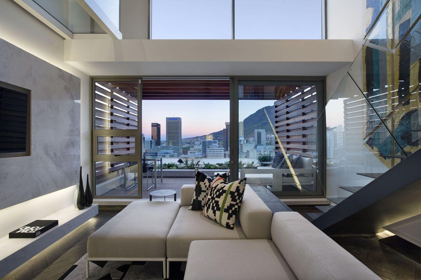Awesome image of luxury loft apartment modern luxury loft apartment modern trendy cape town waterfront duplex penthouse apartment idesignarch