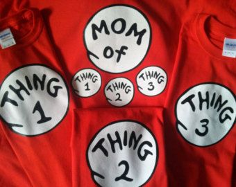 a7031c8e Thing 1 Thing 2 Thing Mom Thing Dad Dr. Seuss by CoastalPrint ...