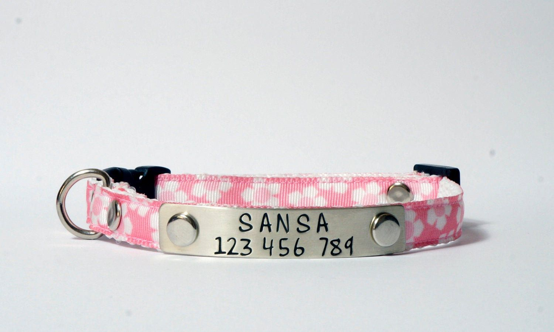 Pink Collar Kitten Collar Ribbon Collar Safety Cat Collar Dog Collar Kitten Collars Pink Collars Cat Collars