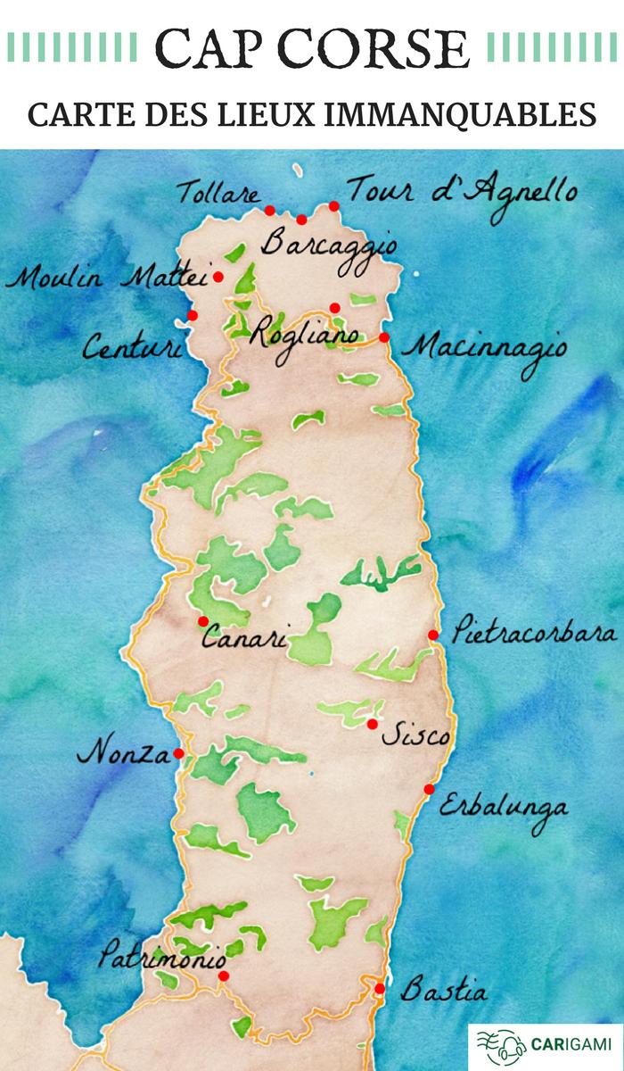 faire une carte de ses voyages Faire le tour du Cap Corse en une journée ? en 2020 | Cap corse