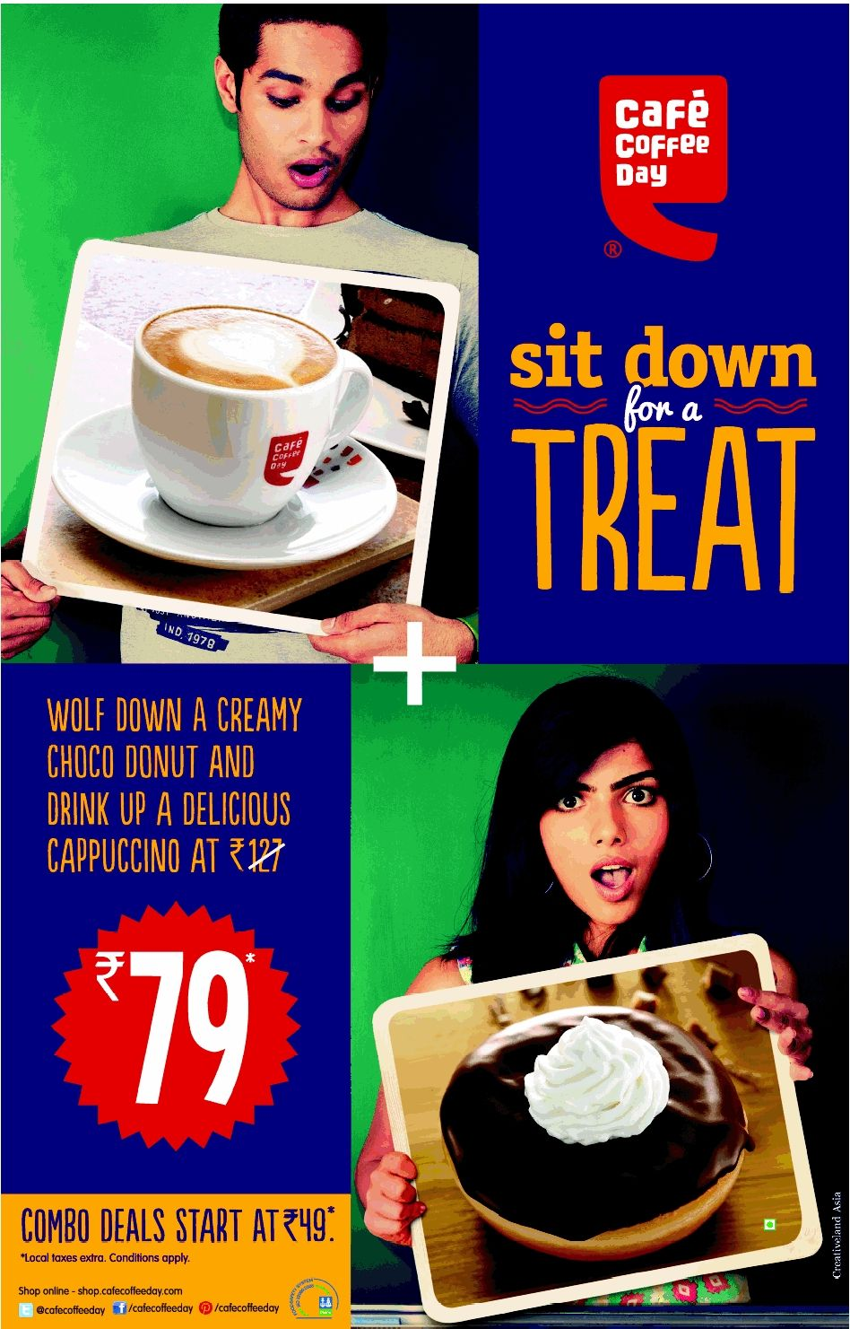 Cafe Coffee Day Enjoy Creamy Choco Donut + Delicious