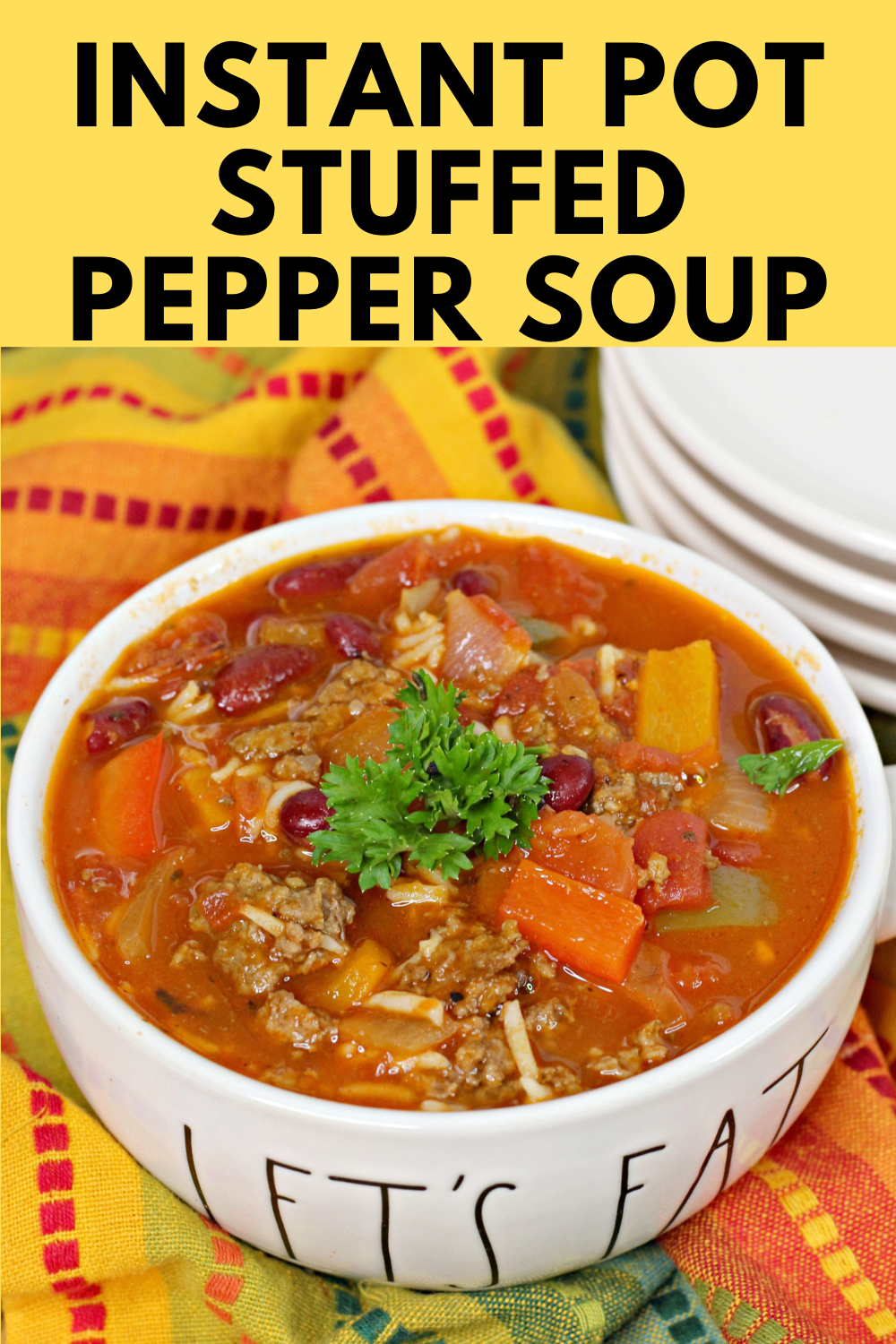 Instant Pot Stuffed Pepper Soup Mama S On A Budget Recipe In 2020 Stuffed Pepper Soup Stuffed Peppers Easy Soup Recipes