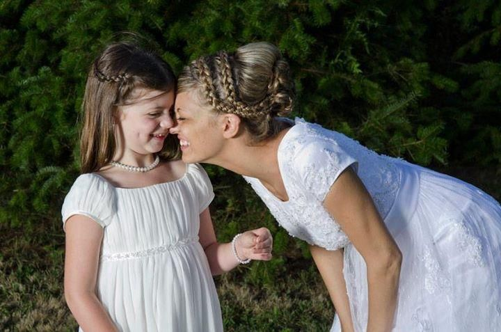 bride and flower girl!