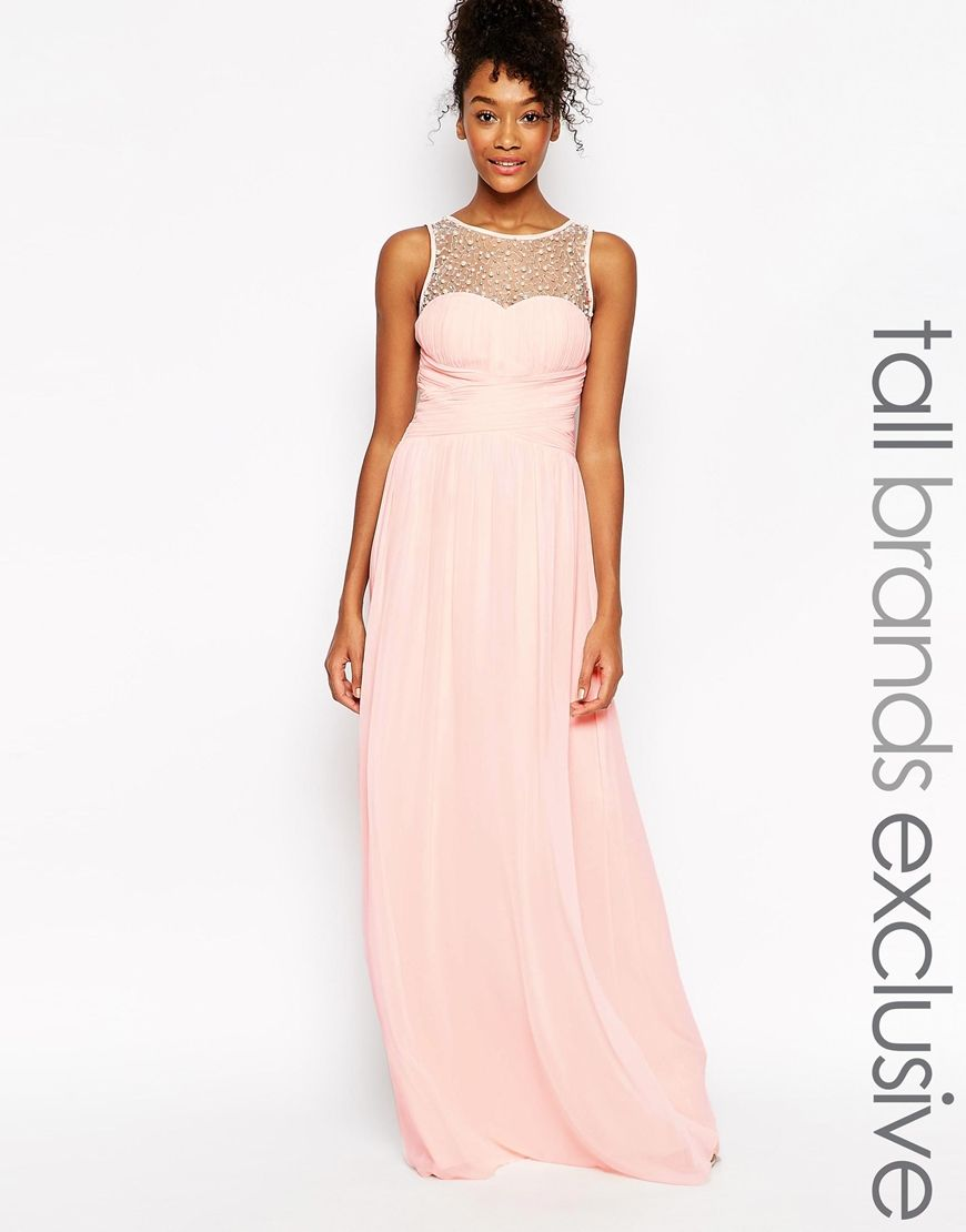 Little Mistress Tall Sheer Embellished Maxi Dress | My choices ...