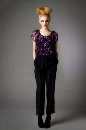 Brooke Pant with self belt by PRIM New York