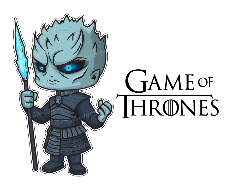Night King Game of Thrones Sticker Clipart Chibi White