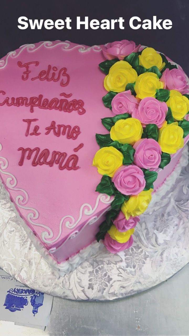 SWEET HEART CAKE from EL BOLILLO BAKERY in HOUSTON TX SweetHeart