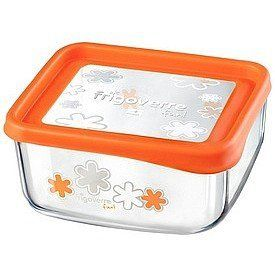 Bormioli Rocco Frigoverre Square Glass Container With Orange Lid 25 1 2 Ounce By Bormioli Rocco Glass Co Inc 13 2 Glass Storage Containers Glass Containers History Of Glass