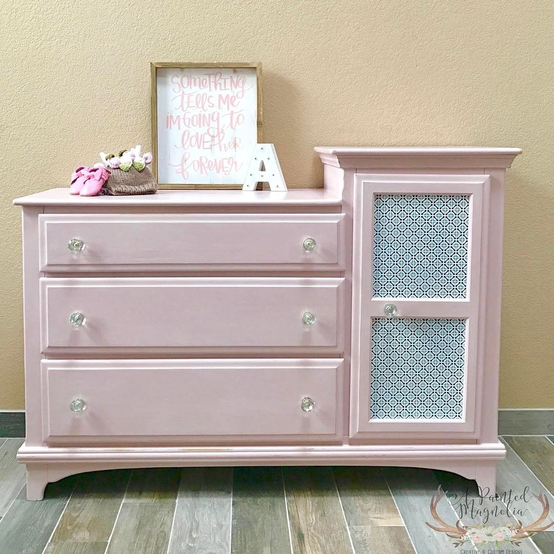 Baby girl inspired changing table/dresser finished with Chalk Paint ...