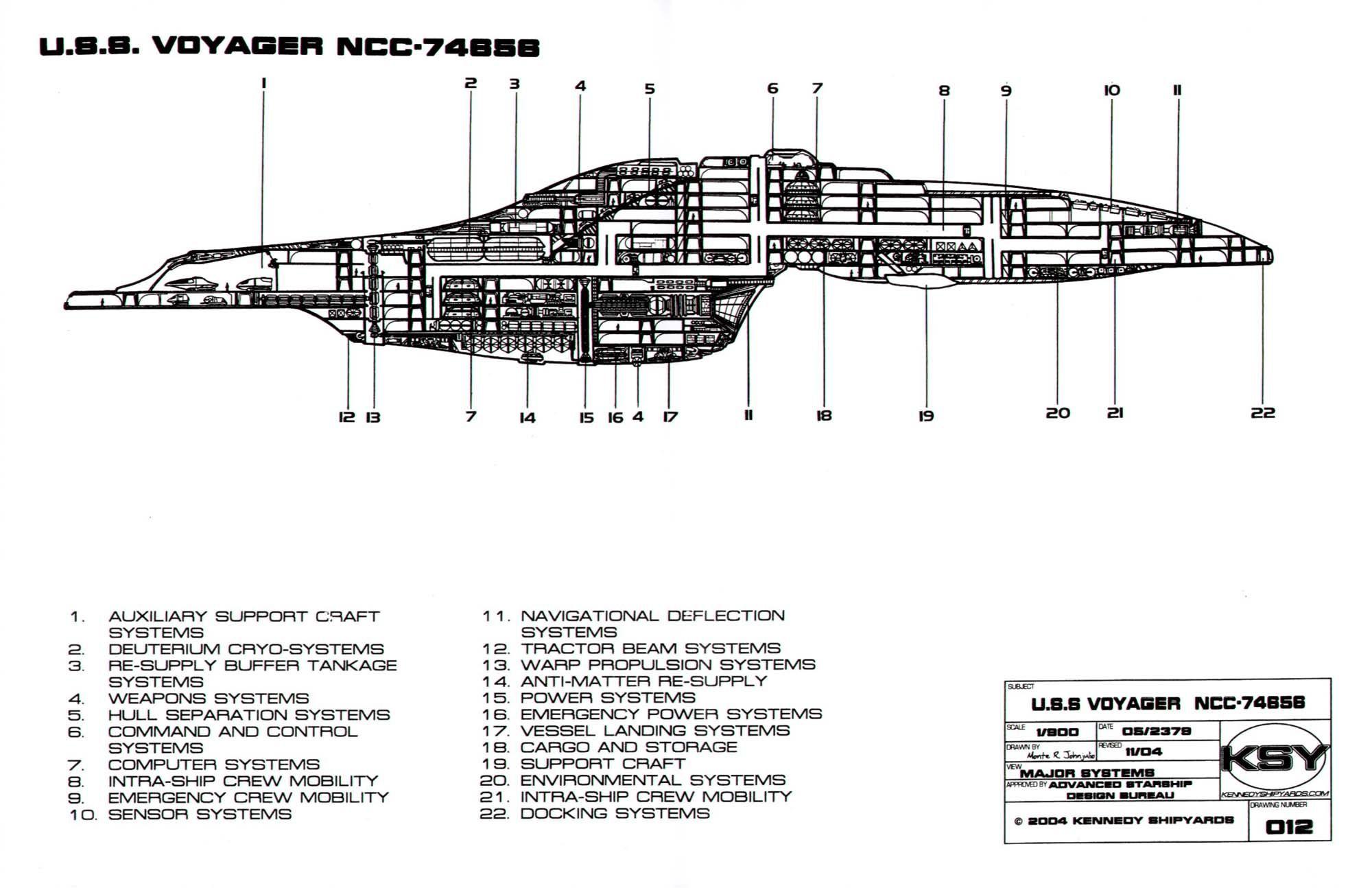 Uss Voyager Ncc Sheet 12