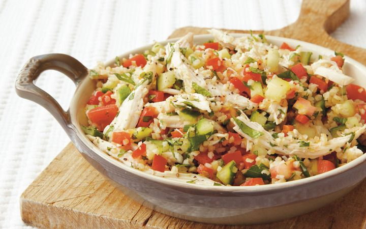 Tabbouleh With Chicken And Red Pepper From The Cooking Light Diet
