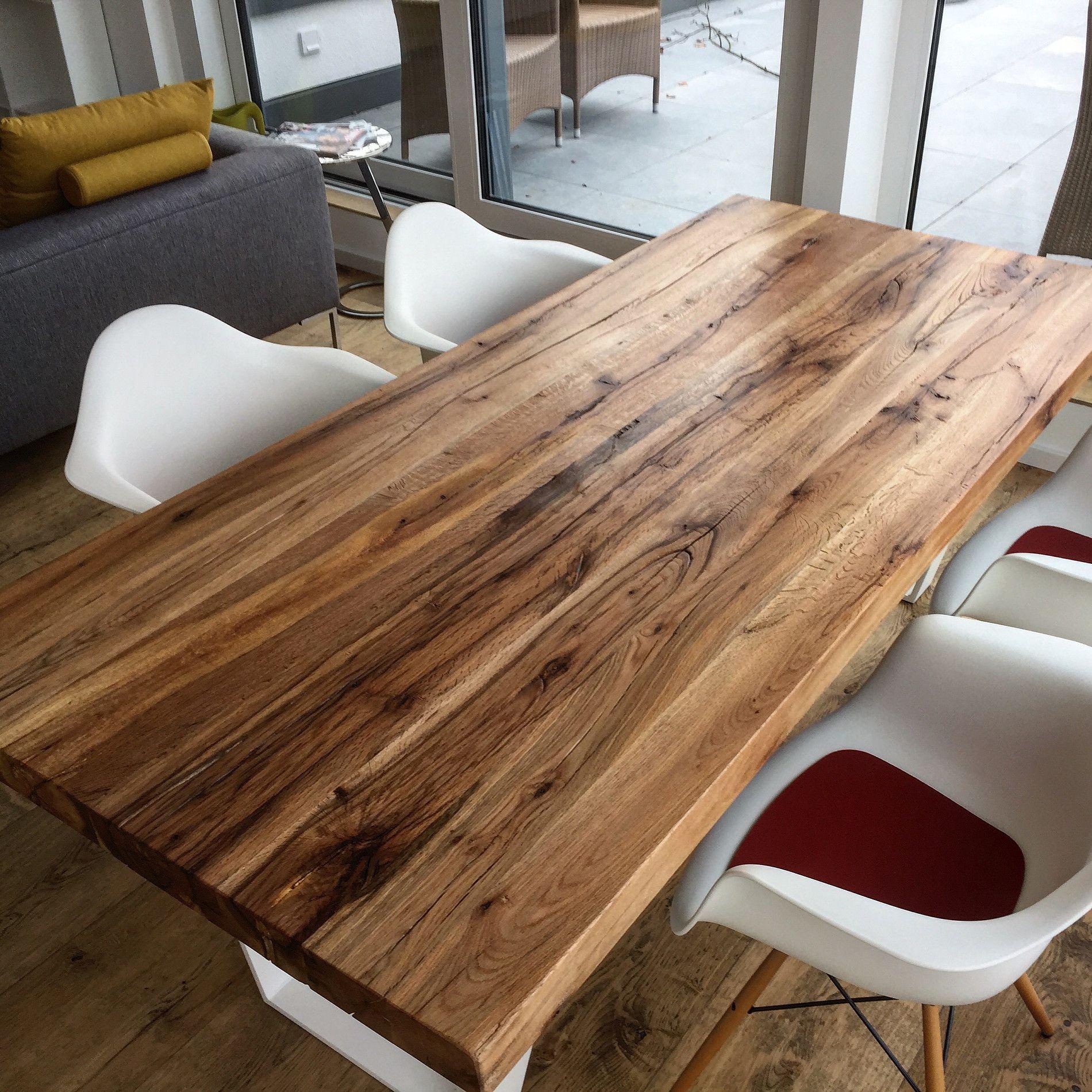 Esstisch Massivholztisch Tischplatte Eichenholz Altholz Holzwerk Hamburg Massivholztisch Tisch Esstisch Holz Massiv