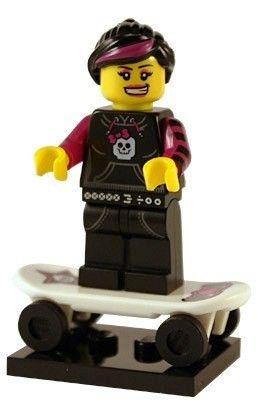 New Lego Skateboard Skatboarder Minifigure with Ramps