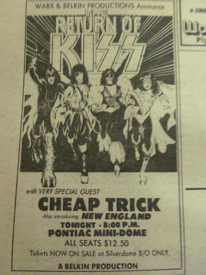 Kiss Cheap Trick New England Pontiac Silverdome Pontiac Mi July