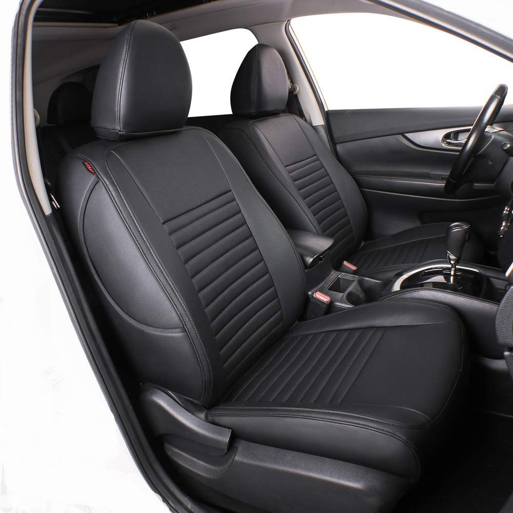 Lingyue Full Set Leatherette Custom Fit Car Seat Cover For Rogue 2014 2015 2016 2017 2018 2019 Airbag Compatible Car Seats Nissan Rogue Interior Nissan Rogue