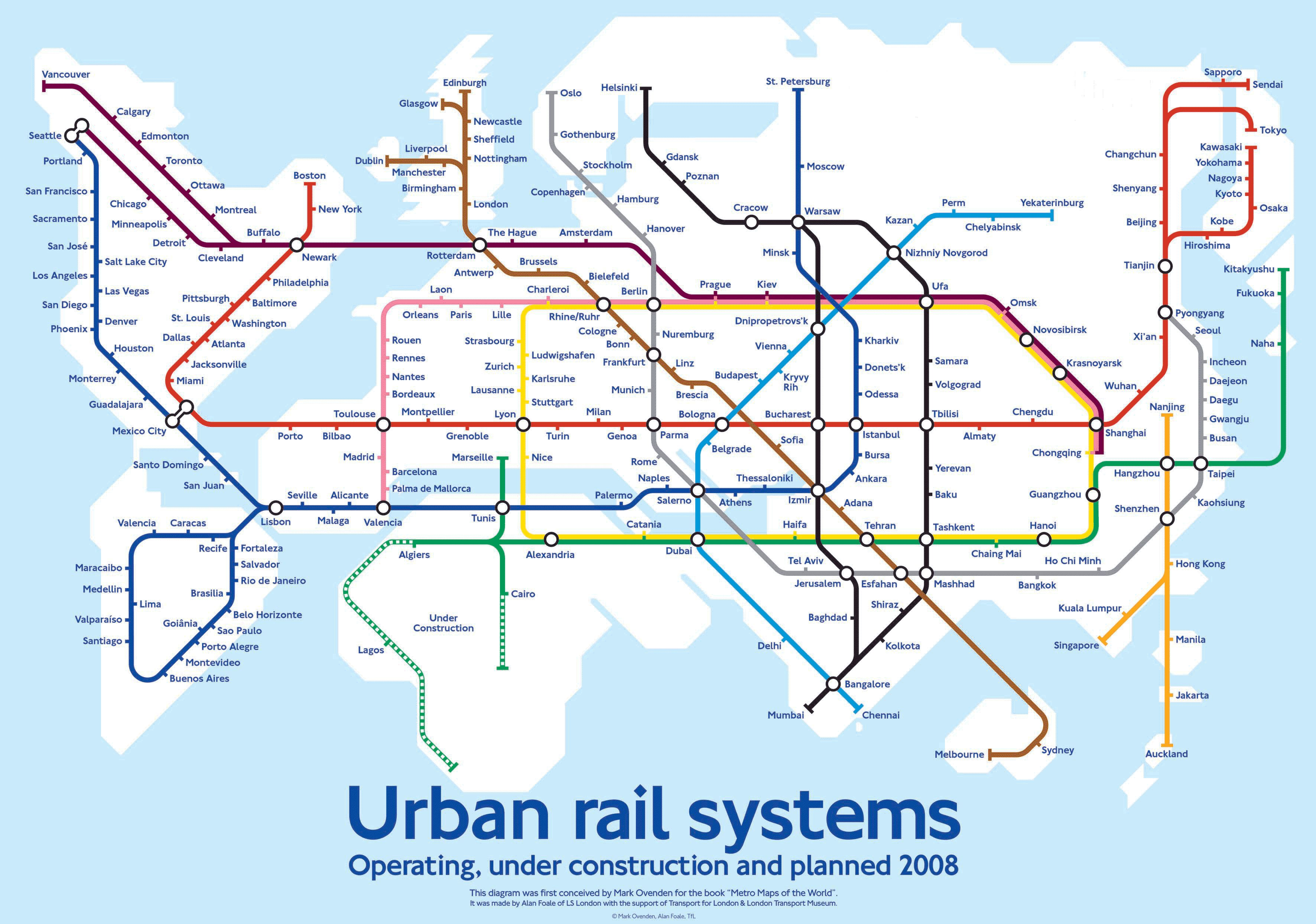 World Transit map Forget rails This needs to be vacuum tubes Get