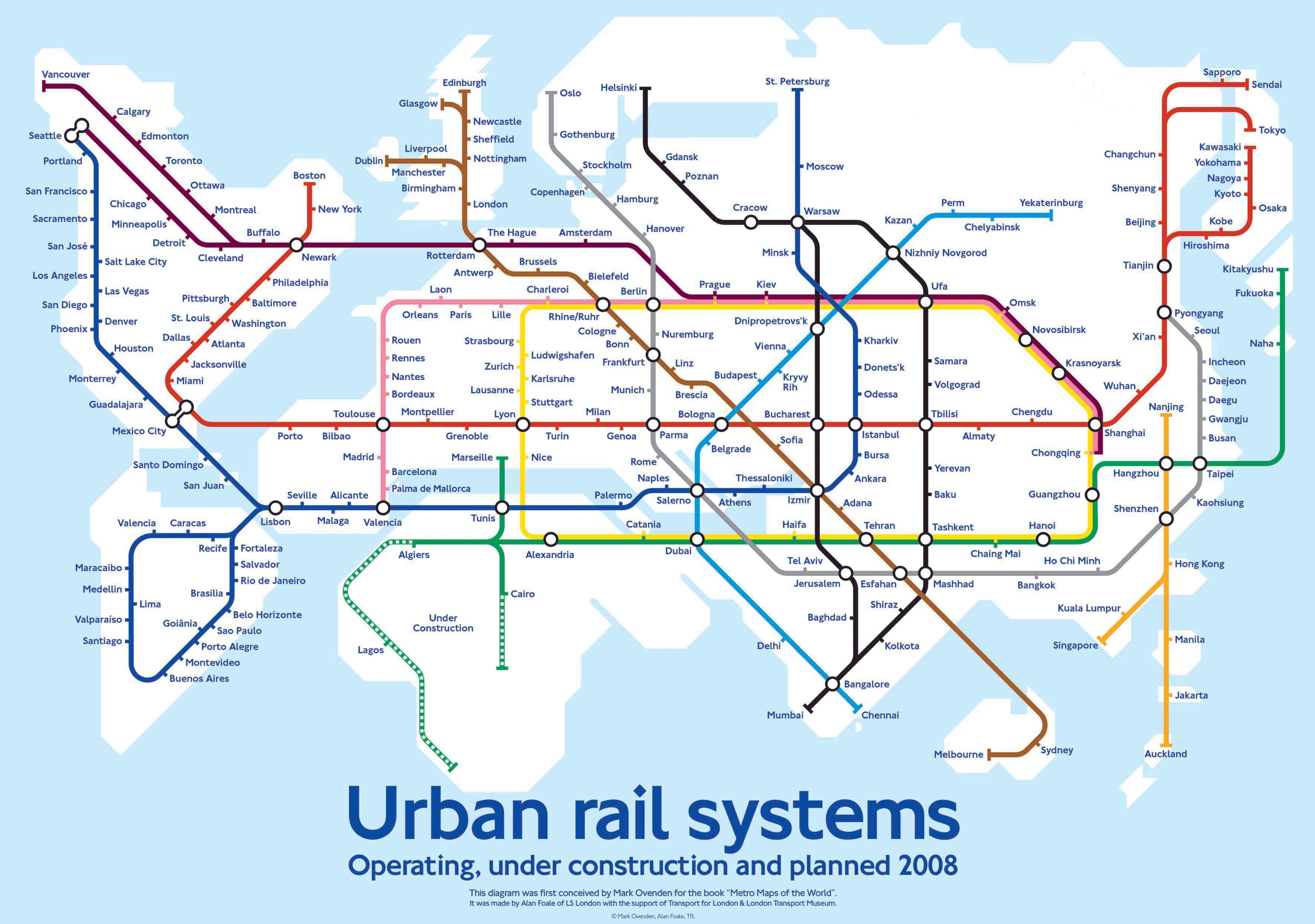 Subway Maps Of The World