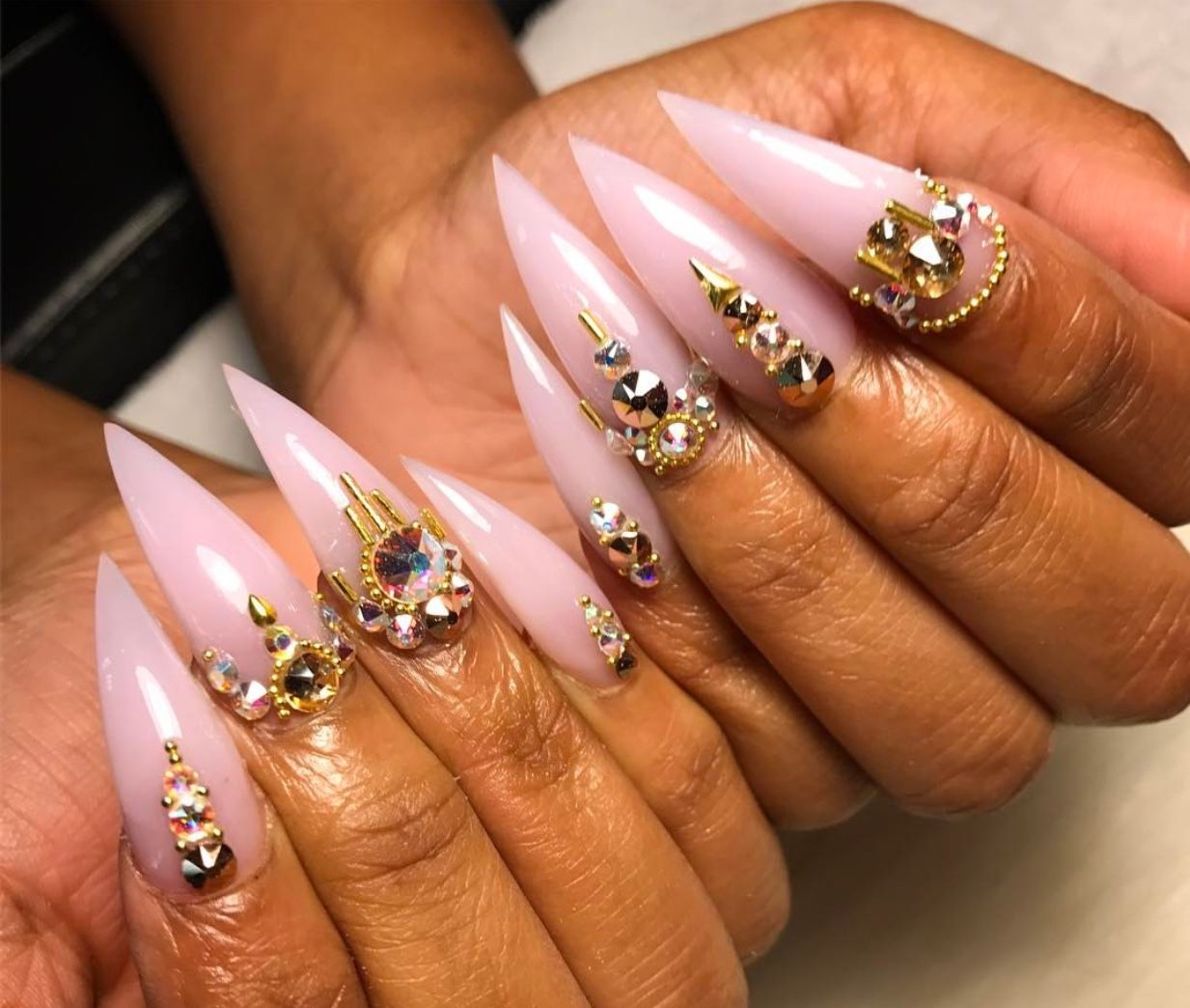 Curved Stiletto Nails | Best Nail Designs 2018
