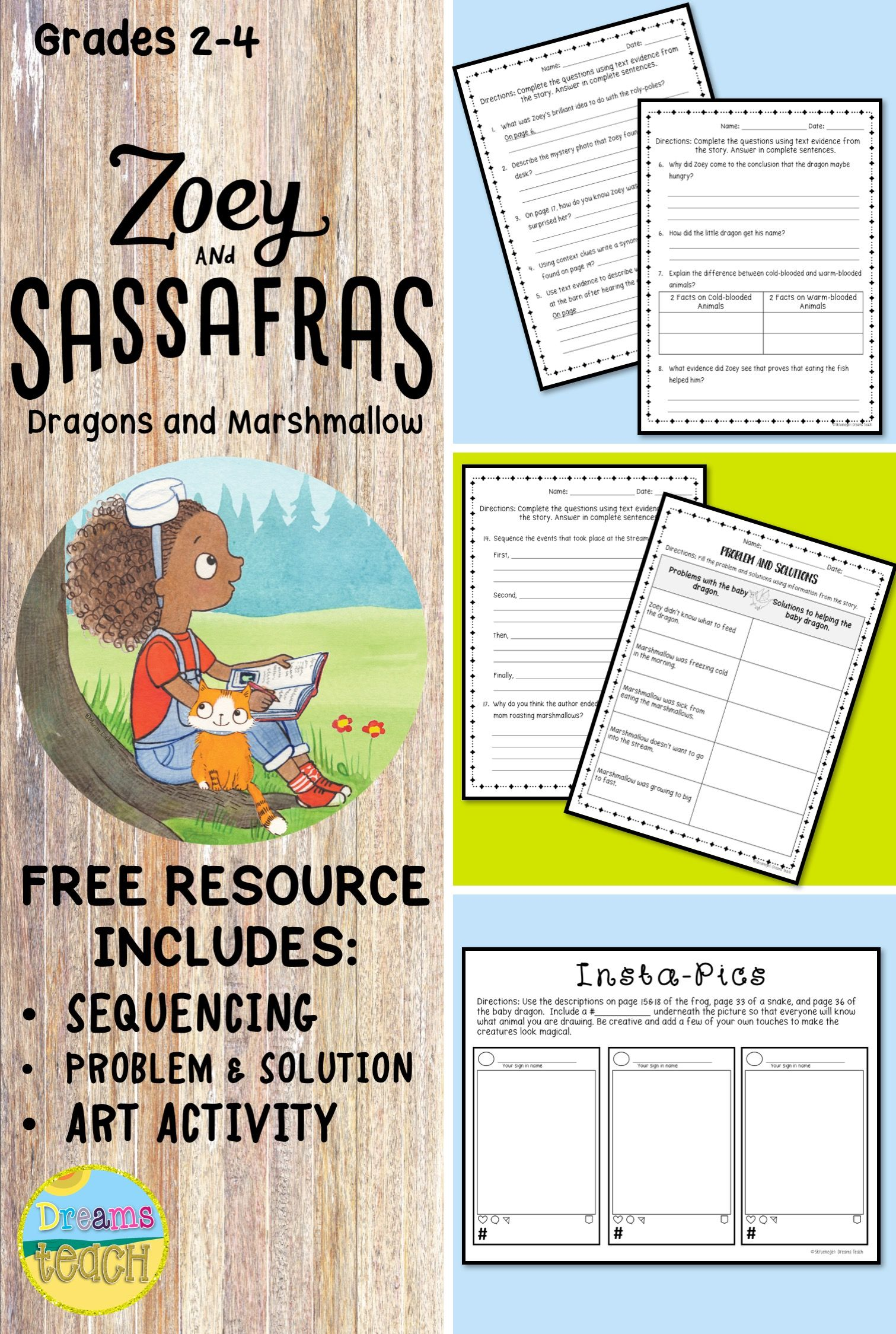 Free Resource On Zoey Amp Sassafras Dragons And