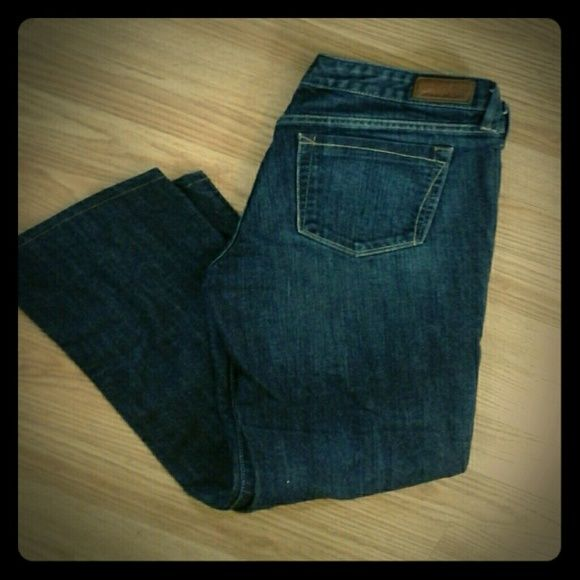 Modern Bootcut Jeans Dark wash, midrise jeans. In great condition. Eddie Bauer Jeans Boot Cut