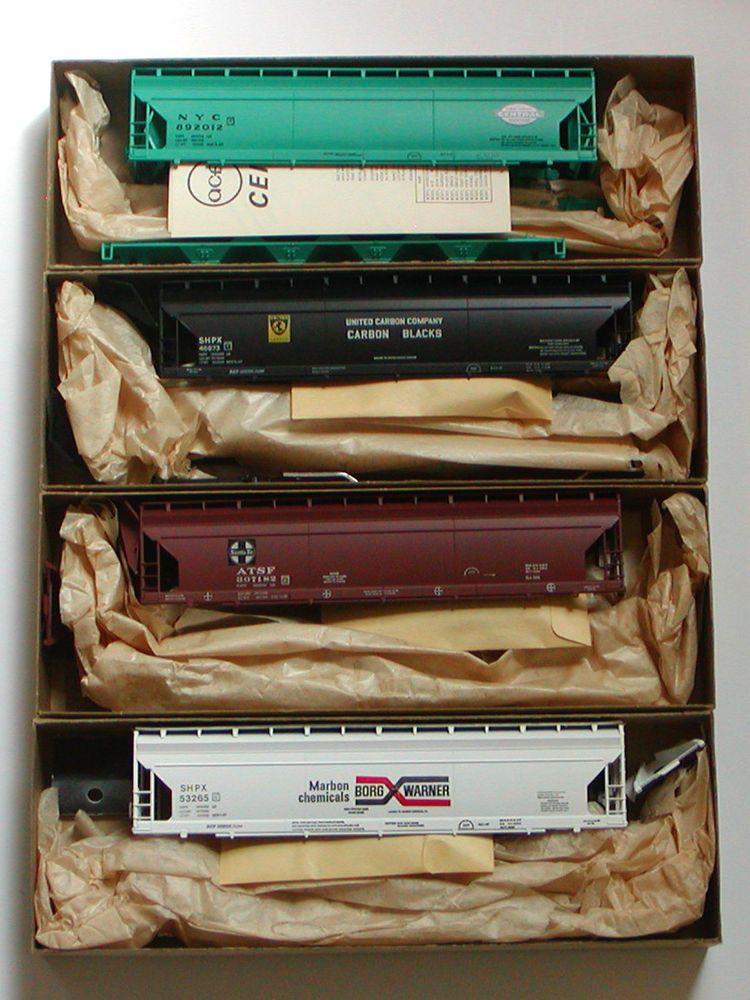4* NIB HO Athearn 55' ACF CENTER FLOW HOPPER Kits ATSF NYC