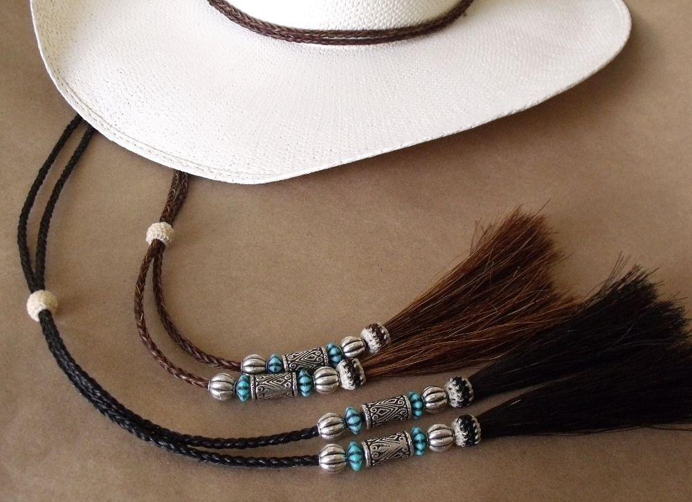 Beaded Cowboy hat stampede string  2692e588dc1
