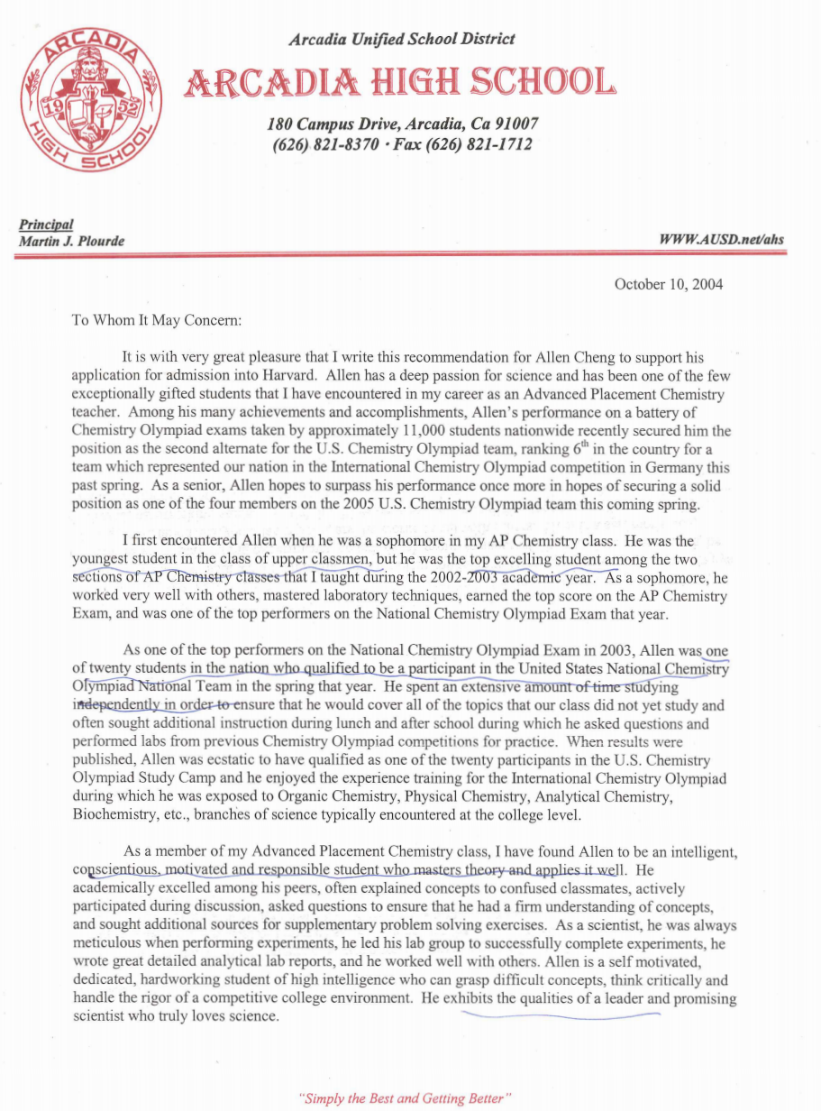 Want To See Sample Letters Of Recommendation For College Here Are 2 Examples From T College Recommendation Letter Harvard Application Letter Of Recommendation