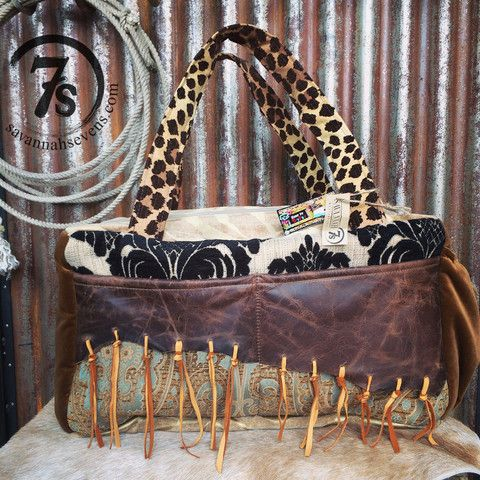 The Keota Carpet Bag – duffle bag with leather and fringe from Savannah Sevens Western Chic