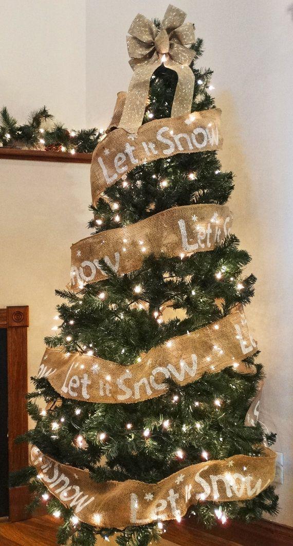 Burlap Garland for Christmas Tree or Mantel 10 yards-30' Custom Garland for the Holidays