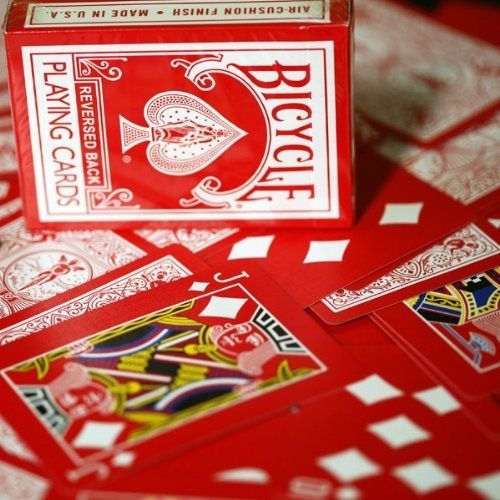 Red Reversed Back playing Cards
