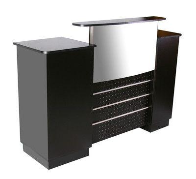 500 Deco Mandy Reception Counter Desk 60 Wide Black Vitrinas De Madera Vitrinas De Madera