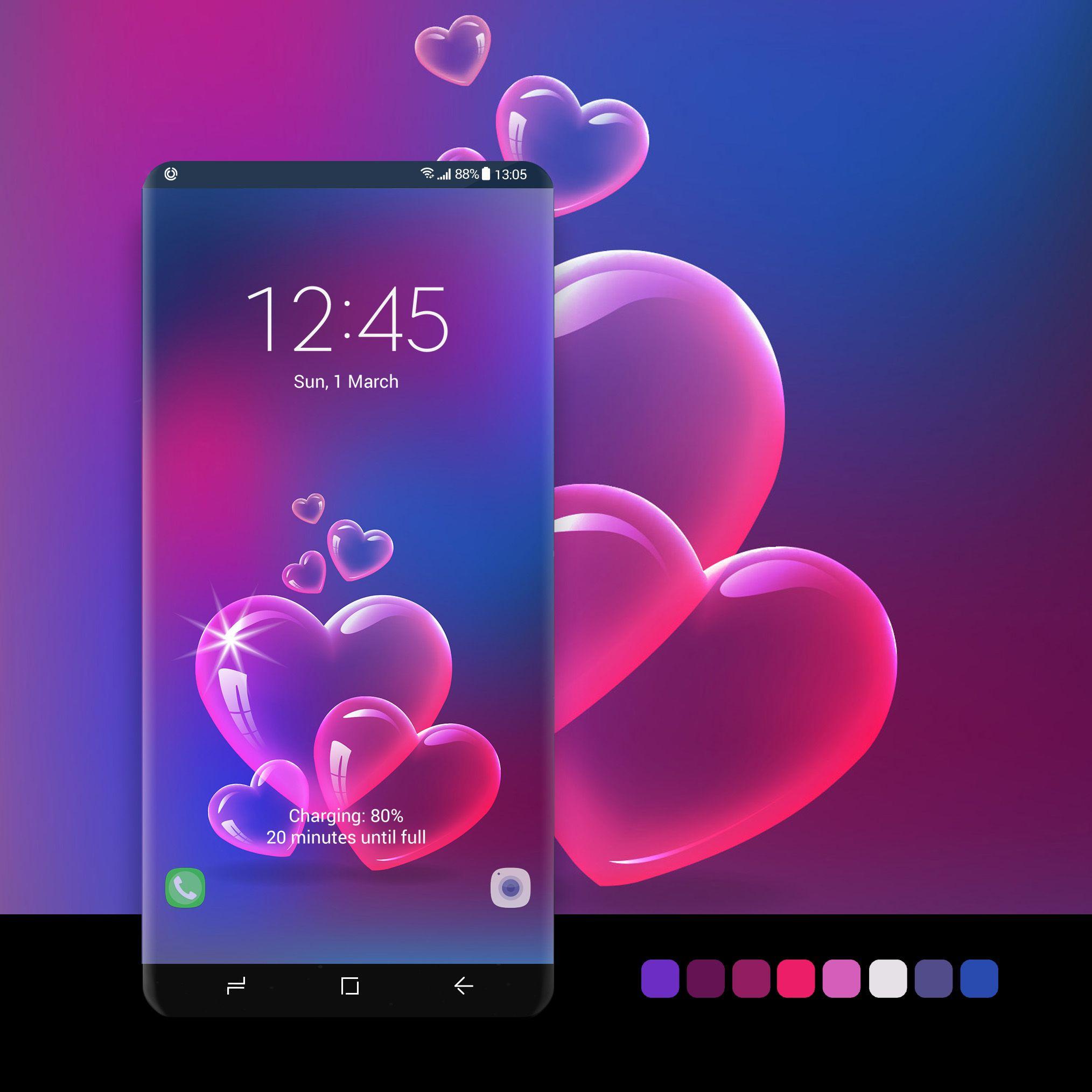 Pink Bubble Hearts Samsung Galaxy Wallpaper Samsung Wallpaper Samsung Galaxy