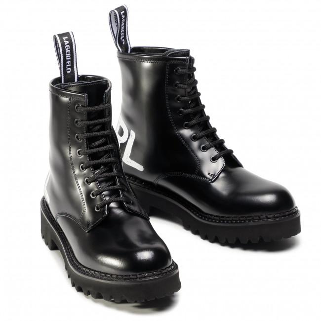Turisticheski Obuvki Karl Lagerfeld Kl45450 Black Lthr Turisticheski I Visokoprohodimi Botushi I Drugi Damski Obuvki B Karl Lagerfeld Boots Combat Boots