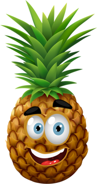 Dy Ananas Heureux Smiley Emoticone Clipart Cartoon Fond Transparent Decor Fleurs Papier Emoji Gratuit Fruits Amusants