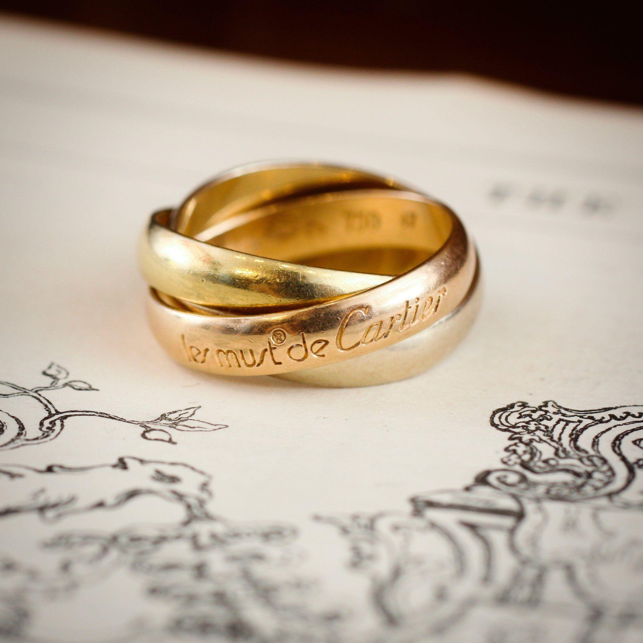 Les must de cartier trinity russian wedding ring