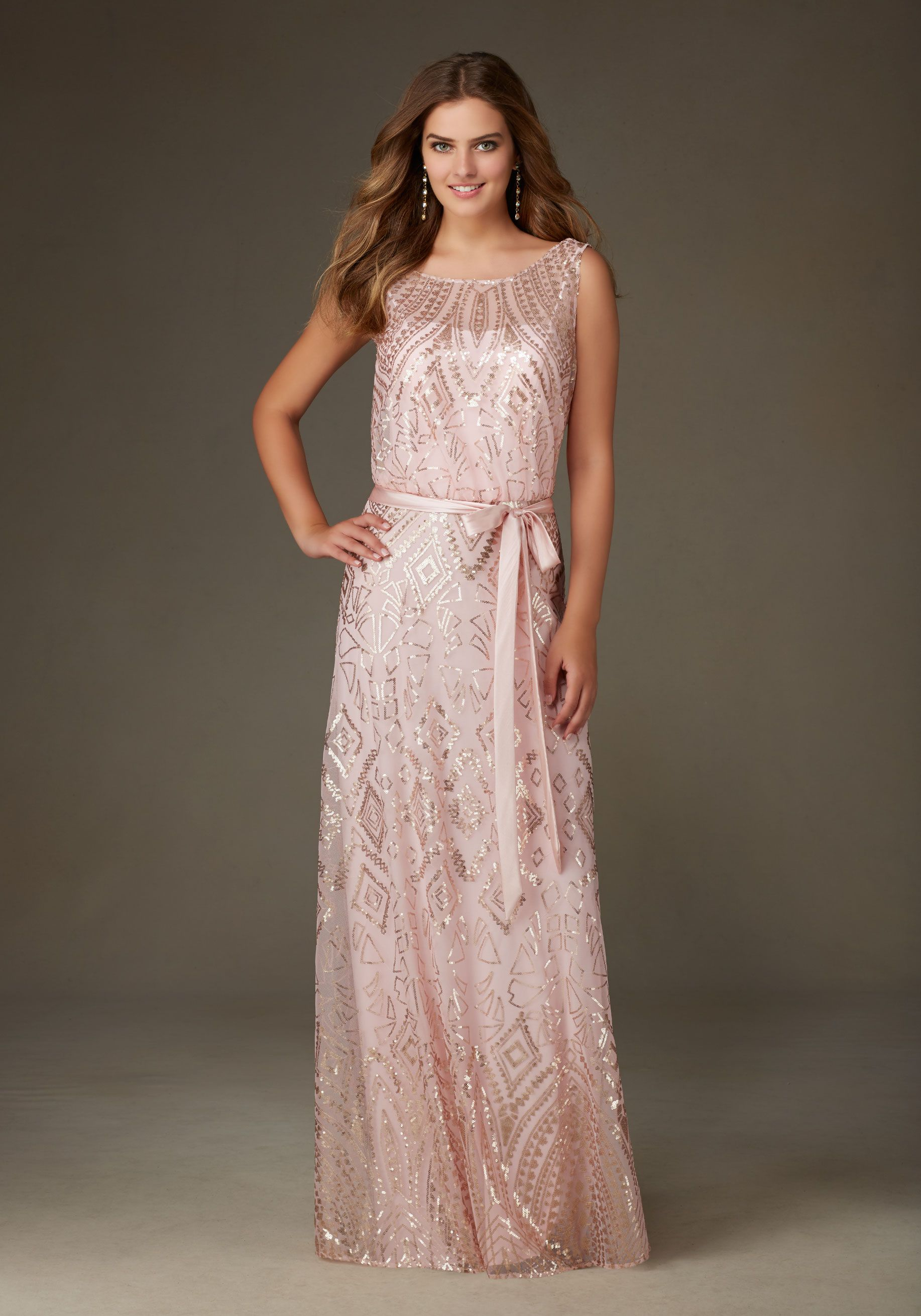 Long patterned sequin on mesh bridesmaid dress designed by long patterned sequin on mesh bridesmaid dress designed by madeline gardner colors available blush ombrellifo Images