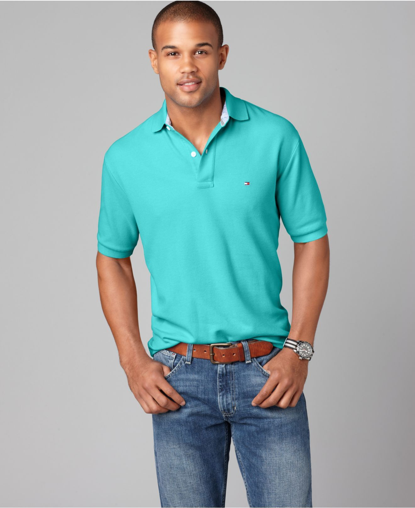 Leg day t shirts men s polo shirt slim - Tommy Hilfiger Shirt Slim Fit Ivy Polo Shirt Mens Polos Macy S