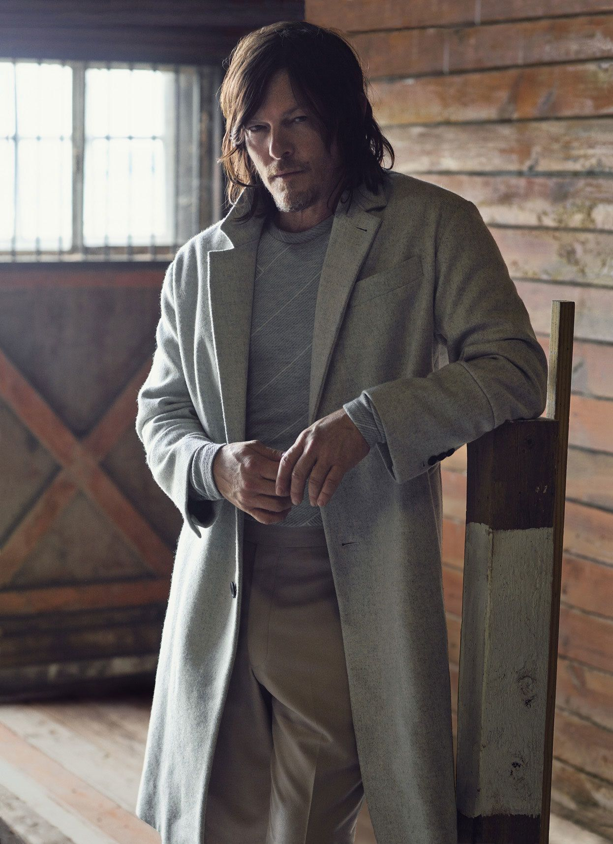 the improbable rise of the walking dead s norman reedus the o interview the walking dead star norman reedus details