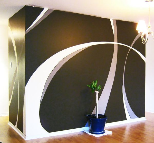 Painting Designs On A Wall | Wall Paint Design By Saadcreative On